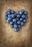 Καρδιά από τα βατόμουρα Στοκ φωτογραφίες με δικαίωμα ελεύθερης χρήσης