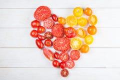 Καρδιά από τις ντομάτες Στοκ Εικόνες