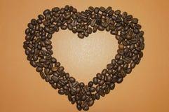 Καρδιά από τον καφέ Στοκ Φωτογραφία