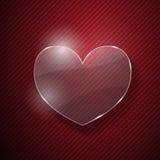 Καρδιά από το γυαλί Στοκ εικόνα με δικαίωμα ελεύθερης χρήσης