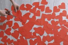Καρδιά από το κόκκινο έγγραφο Στοκ Φωτογραφία