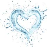 Καρδιά από το νερό Στοκ Εικόνα