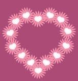 Καρδιά βαλεντίνων από τα λουλούδια Στοκ Φωτογραφία