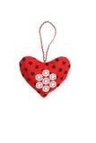 Καρδιά βαλεντίνων σε ένα απομονωμένο υπόβαθρο Στοκ Φωτογραφίες