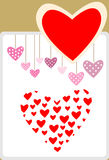 Καρδιά βαλεντίνων στο διαφορετικό ύφος Στοκ Εικόνες