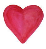 Καρδιά βαλεντίνων ` s Watercolor Στοκ φωτογραφία με δικαίωμα ελεύθερης χρήσης