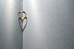 Καρδιά γαμήλιων δαχτυλιδιών Στοκ φωτογραφία με δικαίωμα ελεύθερης χρήσης