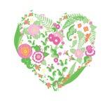 Καρδιά γαμήλιων ζωηρόχρωμη λουλουδιών Στοκ Φωτογραφία