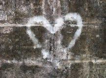 καρδιά γκράφιτι Στοκ φωτογραφία με δικαίωμα ελεύθερης χρήσης