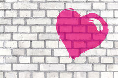 Καρδιά γκράφιτι Στοκ φωτογραφίες με δικαίωμα ελεύθερης χρήσης