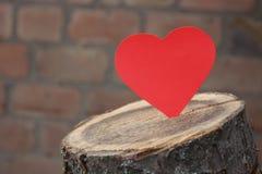 Καρδιά εγγράφου Στοκ εικόνα με δικαίωμα ελεύθερης χρήσης