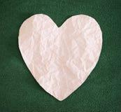 Καρδιά εγγράφου Στοκ εικόνες με δικαίωμα ελεύθερης χρήσης