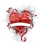 καρδιά εμβλημάτων Στοκ εικόνες με δικαίωμα ελεύθερης χρήσης