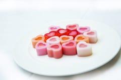 Καρδιά ζελατίνας καρύδων Στοκ εικόνες με δικαίωμα ελεύθερης χρήσης