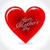 Καρδιά ημέρας των ευτυχών μητέρων Στοκ Εικόνα