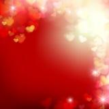 Καρδιά 006 θαμπάδων στο κόκκινο αφηρημένο EP απεικόνισης υποβάθρου διανυσματικό Στοκ Εικόνα