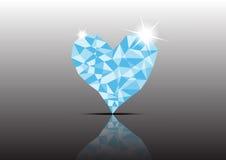 Καρδιά διαμαντιών πάγου πολυγώνων Στοκ Εικόνα