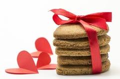 Καρδιά-διαμορφωμένα μπισκότα Στοκ φωτογραφία με δικαίωμα ελεύθερης χρήσης