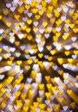 Καρδιά-διαμορφωμένοι φωτισμοί στοκ φωτογραφία με δικαίωμα ελεύθερης χρήσης