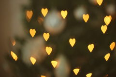 Καρδιά-διαμορφωμένος bokeh Στοκ Φωτογραφία