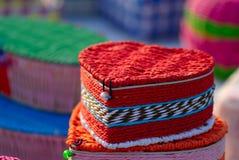 Καρδιά-διαμορφωμένο κιβώτιο χρώματος Στοκ φωτογραφία με δικαίωμα ελεύθερης χρήσης