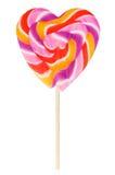 Καρδιά-διαμορφωμένο Lollipop Στοκ Εικόνα