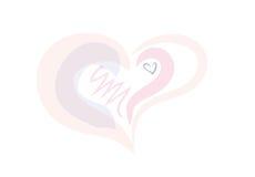 Καρδιά διαφάνειας σε ένα άσπρο υπόβαθρο Στοκ φωτογραφίες με δικαίωμα ελεύθερης χρήσης