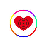 Καρδιά κάτω από μια θέα Στοκ εικόνα με δικαίωμα ελεύθερης χρήσης