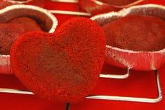 καρδιά κέικ Στοκ φωτογραφίες με δικαίωμα ελεύθερης χρήσης