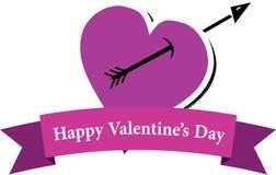 Καρδιά και βέλος Στοκ εικόνα με δικαίωμα ελεύθερης χρήσης