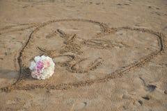 Καρδιά και γάμος αγάπης boquet Στοκ εικόνα με δικαίωμα ελεύθερης χρήσης