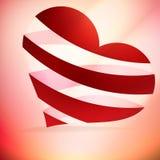 Καρδιά και κάρτα ημέρας Valentin ` s. Στοκ φωτογραφία με δικαίωμα ελεύθερης χρήσης