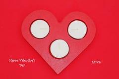 Καρδιά και κεριά Στοκ φωτογραφία με δικαίωμα ελεύθερης χρήσης