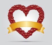Καρδιά και κορδέλλα Στοκ εικόνα με δικαίωμα ελεύθερης χρήσης
