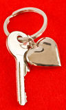Καρδιά και κλειδί Στοκ Εικόνες