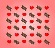 Καρδιά και σοκολάτα Στοκ εικόνα με δικαίωμα ελεύθερης χρήσης