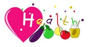 Καρδιά και υγεία διανυσματική απεικόνιση