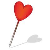 Καρδιά - καρφίτσα Στοκ Φωτογραφία