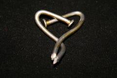Καρδιά καρφιών Στοκ Φωτογραφία