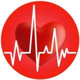 καρδιά καρδιογραφημάτων Στοκ Εικόνες