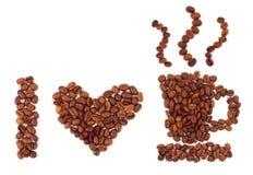 καρδιά καφέ που γίνεται Στοκ Φωτογραφία