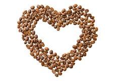 καρδιά καφέ που γίνεται Στοκ Εικόνες