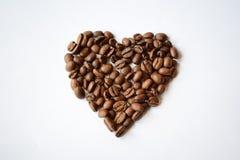 Καρδιά καφέ Στοκ Εικόνα