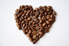 Καρδιά καφέ Στοκ φωτογραφία με δικαίωμα ελεύθερης χρήσης