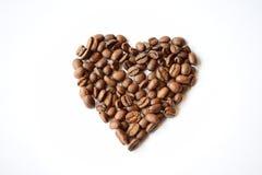 Καρδιά καφέ Στοκ Εικόνες