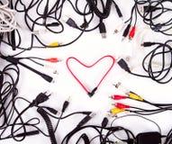 Καρδιά καλωδίων καλωδίων Στοκ εικόνα με δικαίωμα ελεύθερης χρήσης