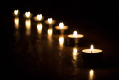 καρδιά κεριών στοκ φωτογραφίες με δικαίωμα ελεύθερης χρήσης