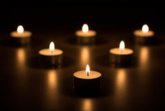 καρδιά κεριών Στοκ Εικόνα