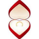 Καρδιά κιβωτίων κοσμήματος Στοκ φωτογραφία με δικαίωμα ελεύθερης χρήσης