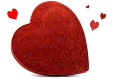 καρδιά κιβωτίων που διαμ&omic Στοκ Φωτογραφίες